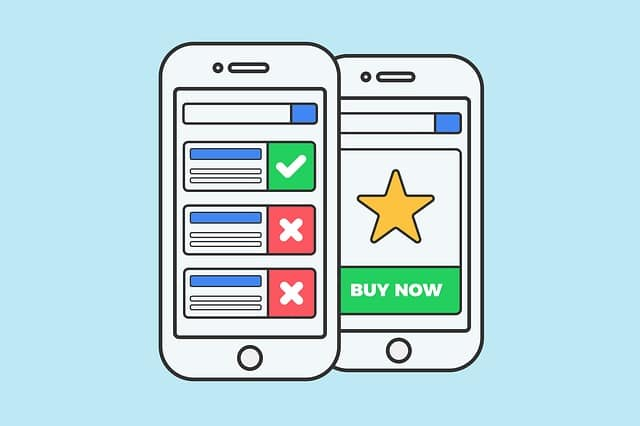 mobile landing page images